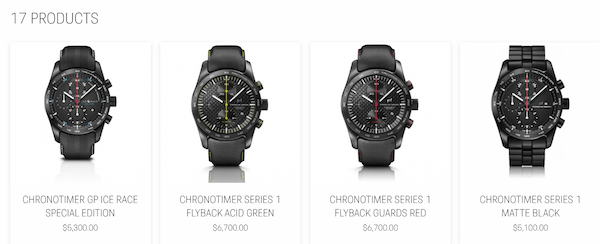 Porsche Design Chronotimer Series 1 options