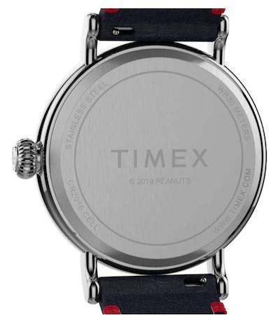 Snoopy Timex caseback