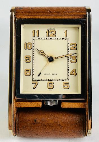 Vintage Jaeger LeCoultre Folding Travel Alarm Clock