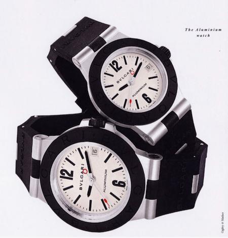 Pair of Bvlgari Aluminum watches