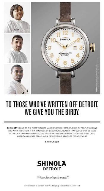 Shinola Detroit ad