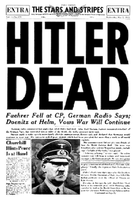 Hitler's watch whereabout unknown (courtesy wikipedia.org)