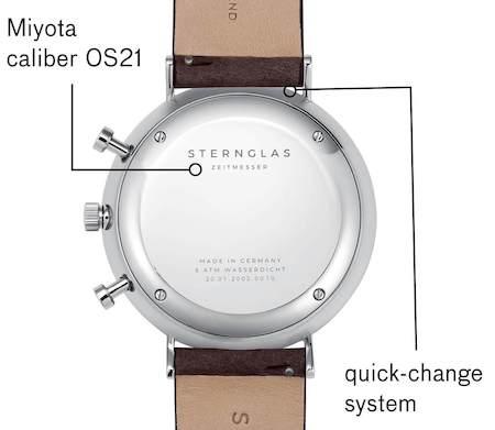 Sternglas Chrono caseback