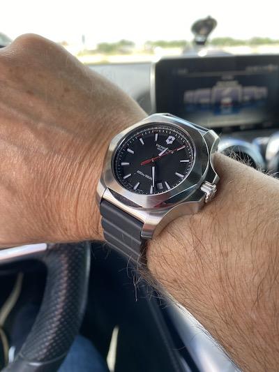 Victorinox on wrist