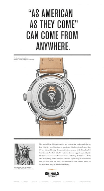 Shinola watch ad