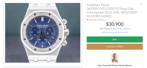 An expensive watch on Chrono24