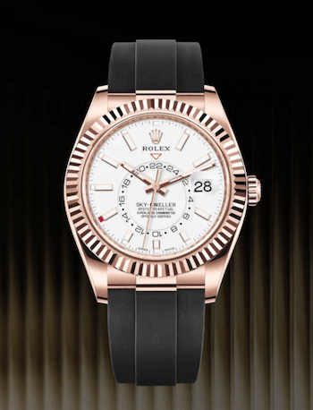Rolex Sky-Dweller Everose Gold on Oysterflex Bracelet - new watch alert