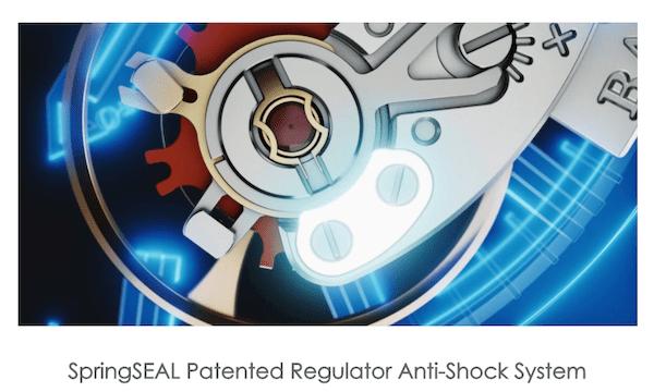 SpringSEAL Patented Regulator Anti-Shock System