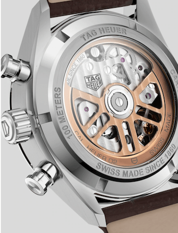 TAG Heuer Carrera Chronograph caseback
