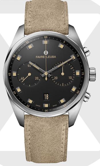 Favre-Leuba Sky Chief Chronograph velvet black - new watch alert