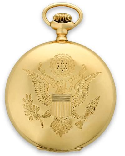 Waltham Defender Presidential Presentation Pocket Watch seal