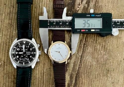 Watch size comparison