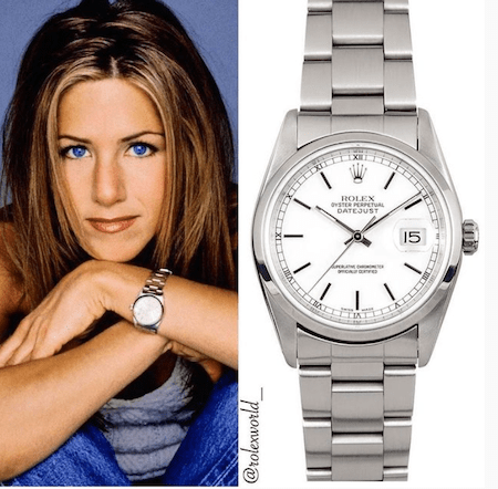 Jennifer Aniston and Rolex