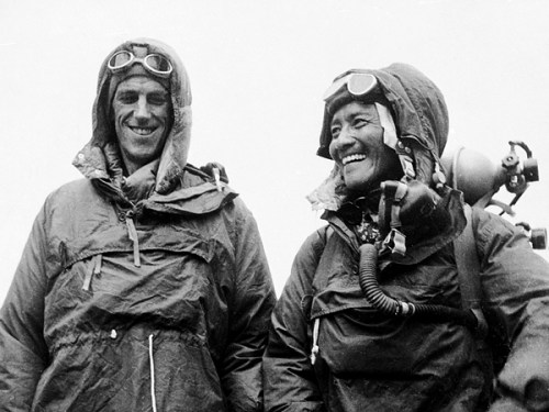 Sir Edmund Hillary and his Sherpa guide