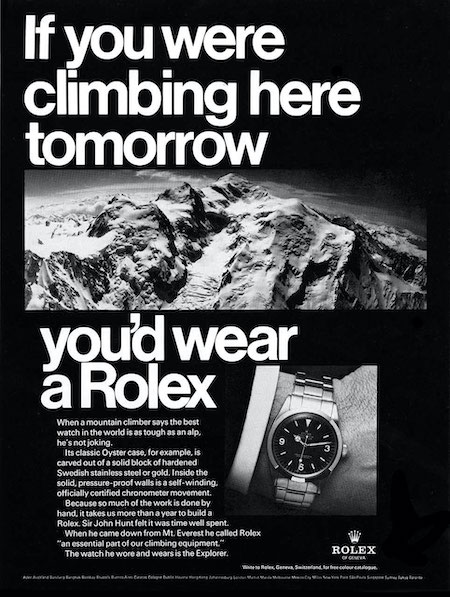 The Truth About the Rolex Explorer - 1967 ad