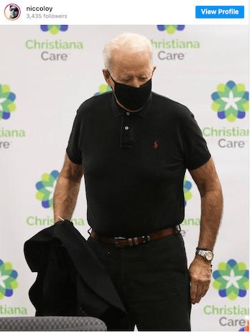 Joe Biden wearing Rolex