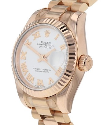 Rolex valuation yellow gold Datejust