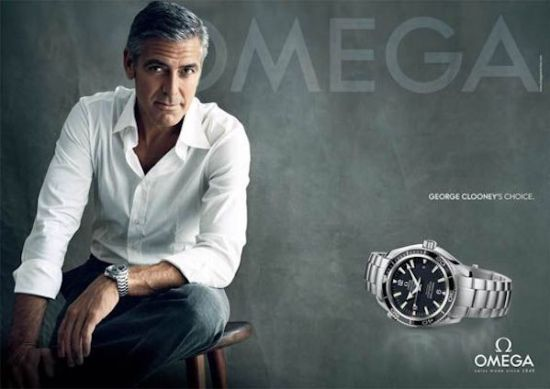 George Clooney - OMEGA wearing celebrity watches
