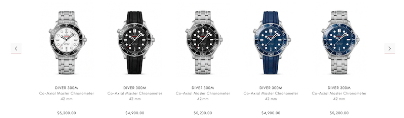 OMEGA Seamaster Diver 300m collection 1