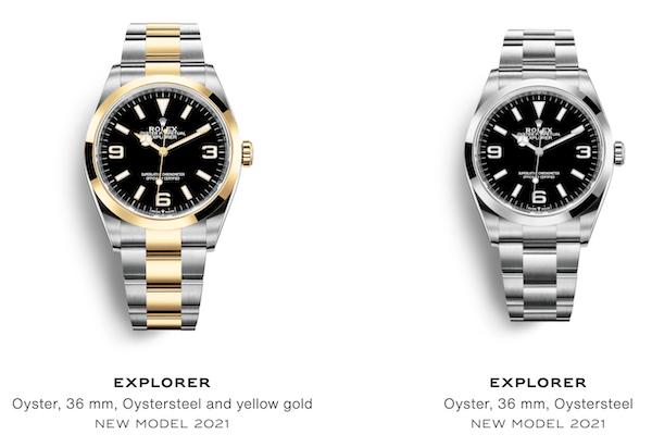 New Rolex Explorers together