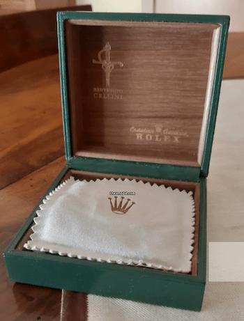 Rolex 4012 Cellini box and pillow