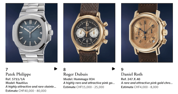 Watch collecting via Phillips
