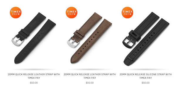 Timex Pay watch bands