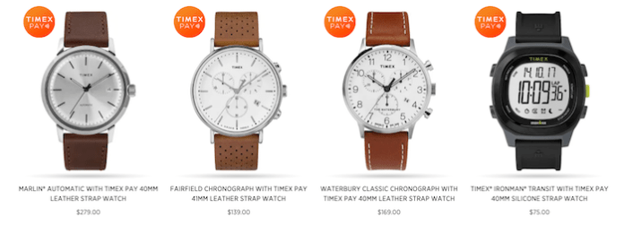 Timex Pay watches