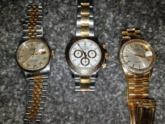 Confiscated Rolex