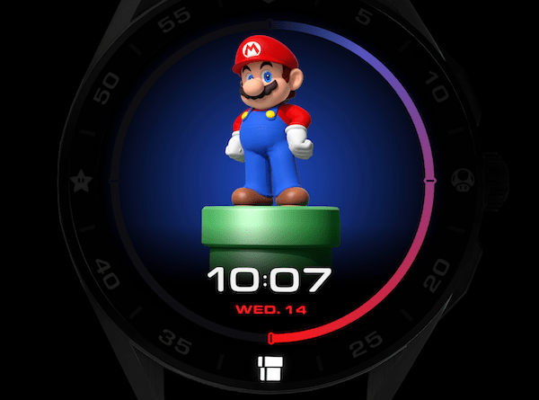 TAG Heuer Connected x Super Mario standing proud