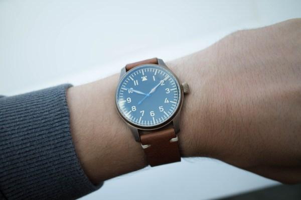 Stowa Flieger Bronze Vintage on wrist