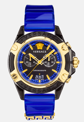 Versace watches Icon Active Blue head on
