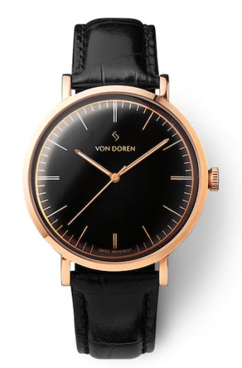 Von Doren Watches' Aksla Mark II Pure Black - Rose Gold