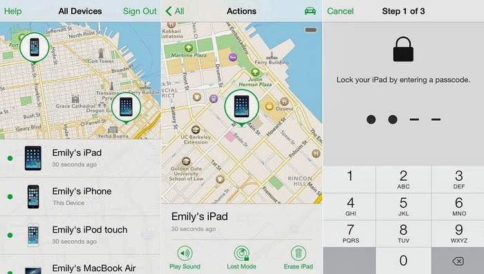 Way 2: Track the stolen iPhone using Find My iPhone