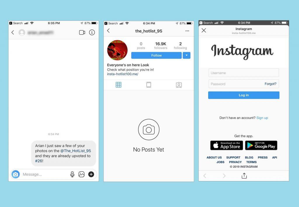 Instagram Phishing Page