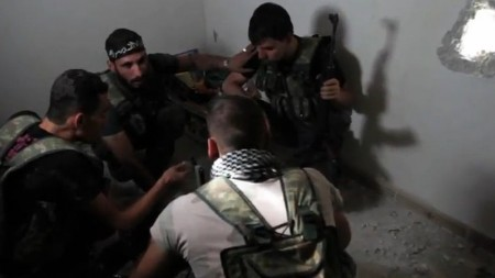 Syrian Rebels in Aleppo, Syria