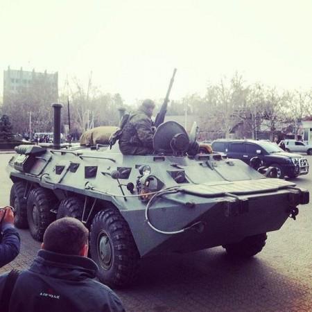 Russian APC In Sevastopol