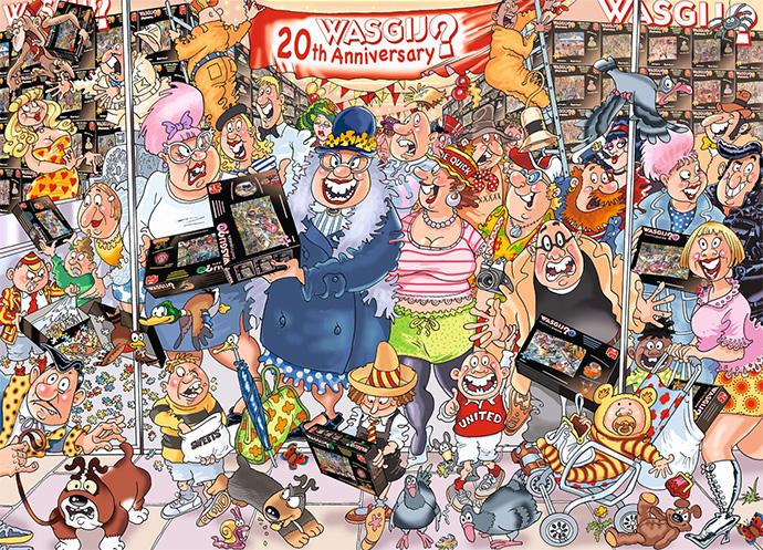 Wasgij Puzzle 1000 Piece Cartoon Jigsaw Back to a 14th Century Castle Comic