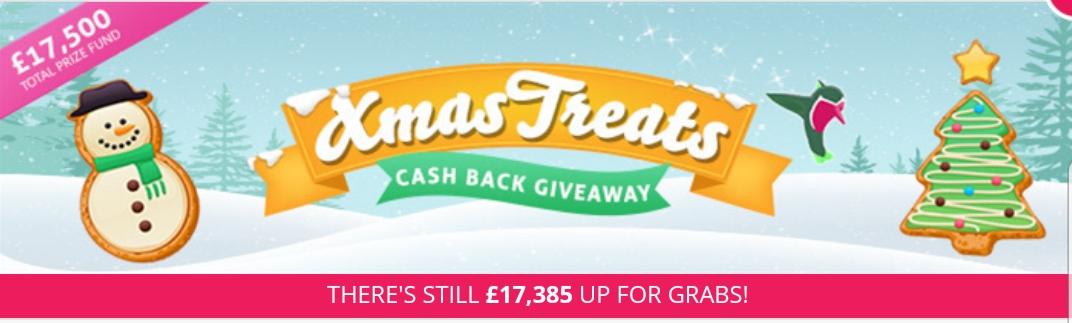 Topcashback xmas treats cashback giveaways