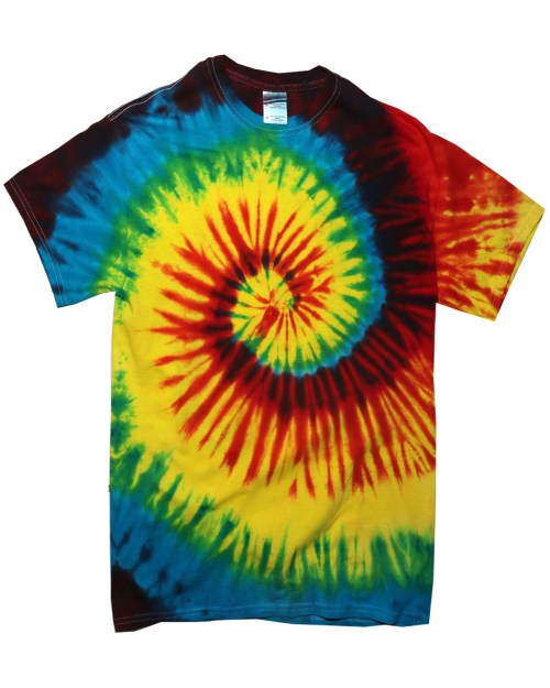 Colortone Short Sleeve Rainbow Tie-Dye T-Shirt