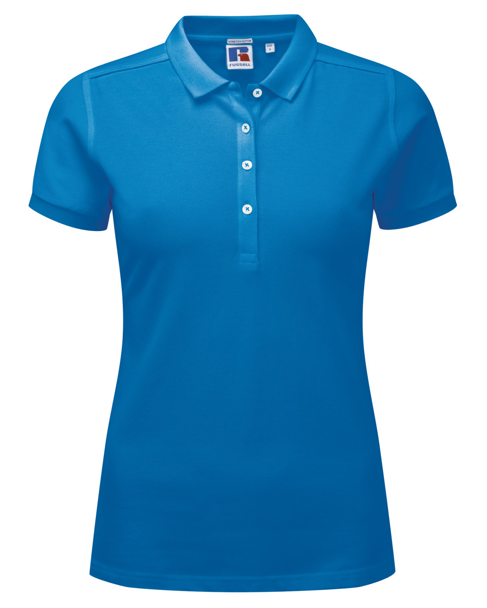 Russell ladies 39 stretch polo the t shirt man cheap for Cheap fast t shirt printing