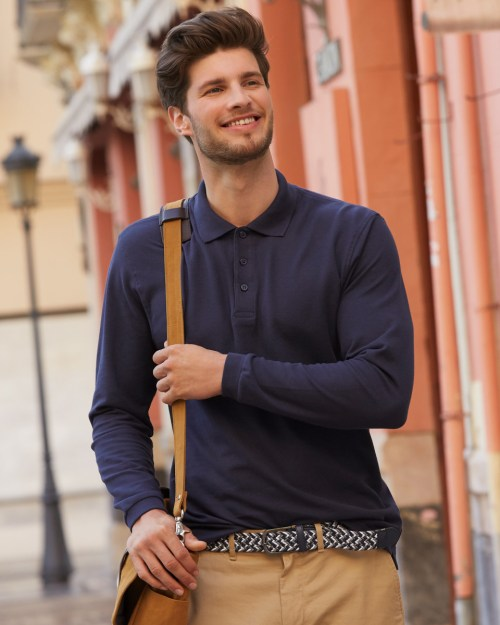 Fruit Of The Loom Men's Premium Long Sleeve Polo