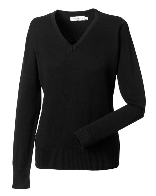 Russell Collection Ladies' V-Neck Knitted Pullover