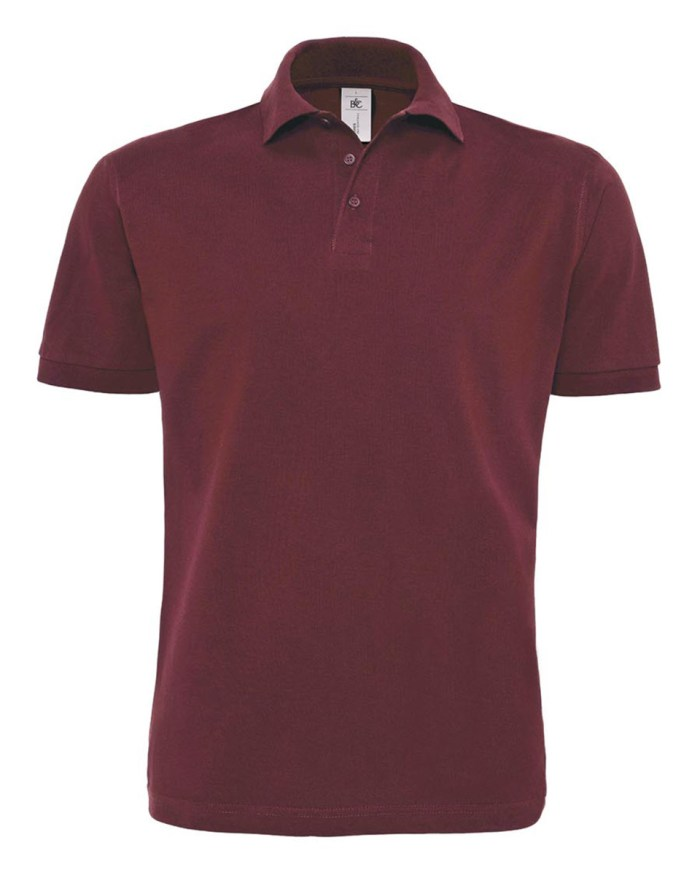 B and C Men's Heavymill Short Sleeved Fine Piqué Polo