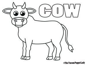 Free Cow Coloring Page