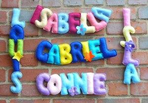 handmade personalised children's names
