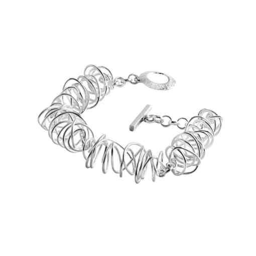 Handmade Wire Wave Sterling Silver Bracelet