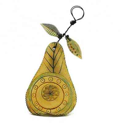 Shirley Vauvelle ceramic pear wall hanging
