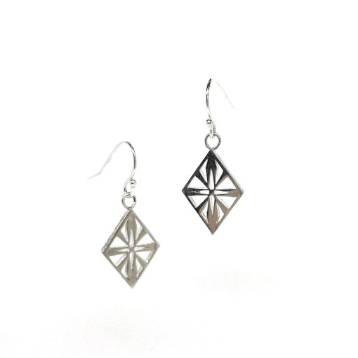 Art Deco Diamond Silver earrings