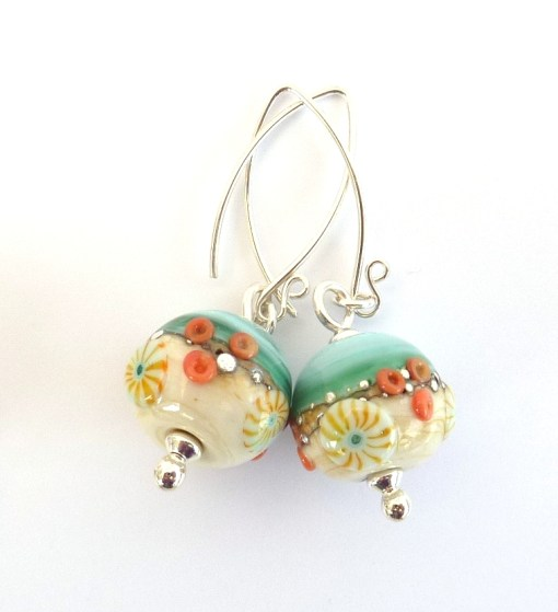 Sand & Sea round earrings
